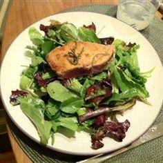 Seared Ahi Tuna with Watercress, Chile, and Ginger Salad Allrecipes.com