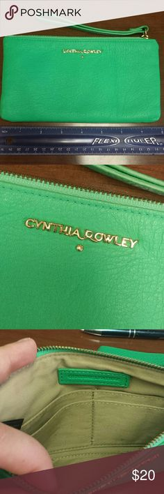Cynthia Rowley wristlet Cynthia Rowley wristlet.  Soft leather. No exterior blemishes.  Has slots inside to use as a wristlet or use inside a larger purse. Cynthia Rowley Bags Clutches & Wristlets