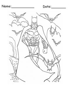 Here comes Batman! :) Free Printable Coloring Pages.