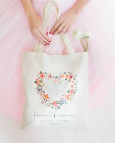 Our sweet Blushing Hearts Tote   captured by @radionphotography. link in profile if you have to have it. #wcshop #radionphotography #blushingheart #customtote #destinationwedding #weddingfavor #partyfavor #maidofhonorduties #tote #humpday #pretty #floral #indie #somanytotes #solittletime
