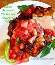 Do you want to make something special? I absolutely love my balsamic glaze to marinate the chicken pieces before grilling. Then, too serve along with the chicken is a fresh strawberry salsa, which compliments the chicken perfectly for a 5 star review! www.amothersshadow.com