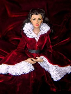 This is a Tonner Scarlett doll which has been repainted. She wears the Fire in Atlanta dress.