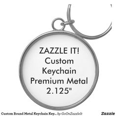 Custom Round Metal Keychain Key Ring Blank