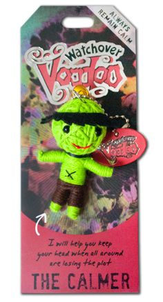Watchover Voodoo Bad Hair Day Novelty Cute Handmade KeyChain Mini String Dolls