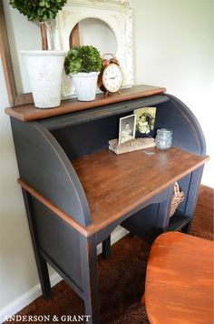 Fixing and repainting a yard sale desk | Anderson & Grant