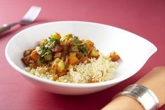 Butternut squash, courgette and chickpea tagine with saffron cous cous Recipe