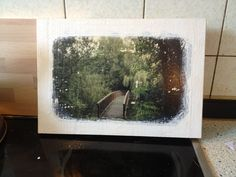 Fotos Transferieren - Fotos potchen - Fotos auf Holzrahmen