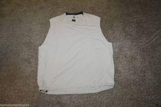 Nike Golf Men's Brown V Neck Windbreaker Vest Size X Large