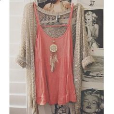 love the coral came and the natural sweater