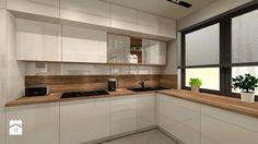 Aranżacja kuchni i salonu w domu jednorodzinnym - Średnia kuchnia w kształcie litery l, styl nowoczesny - zdjęcie od Atelier Art&Design