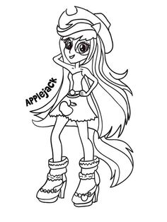 Coloring Pages Of My Little Pony Equestria Girls Rainbow Rocks