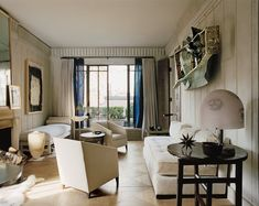 It's always fascinating to see any single space morph over time (like the decor of the Oval Office as we cycle through the presidents) but it's hard to imagine a better example of the changing design zeitgeist than through images of the personal living room of a talented, prolific interior designer