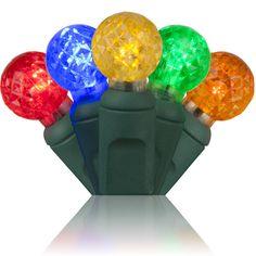 """70 G12 Multi Color LED String Lights, 4"""" Spacing 24'"""