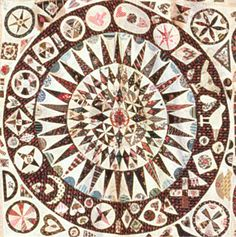 The lovely center medallion of the original Jane Pizar quilt. OMG this is so beautiful and original. I want to let it influence my next applique project...
