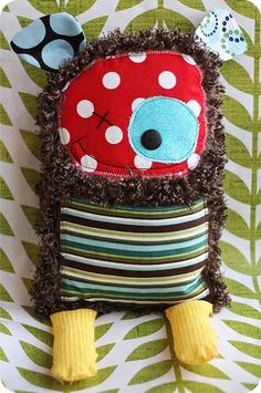 monster stuffy - I love stuff like this where my accidents will just blend in with the look....