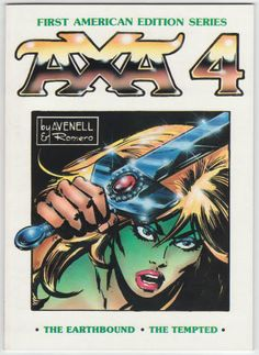 Axa Book 4 by Donne Avenell and Enrique Romero. Softback, First American Edition Series, size 7 x 10 inches, 64 pages, Out of Print. Set of Volumes 1 - 8 for $175