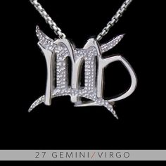 27 Gemini and Virgo Silver Unity Pendant by UnityDesignConcepts, $99.99
