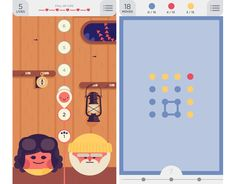 two dots gameplay contains simple graphics for icons/buttons and scoring at botton