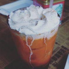 Keeping calm Thai style. #thaitea #sunny #day #tea #bemaifoodie