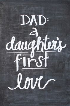 Dad: A Daughter's First Love! So cute for a DIY #FathersDay gift