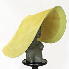 """Incredibly Rare Larger-Than-Life Vintage """"Halston of Bergdorf Goodman"""" Derby Hat"""
