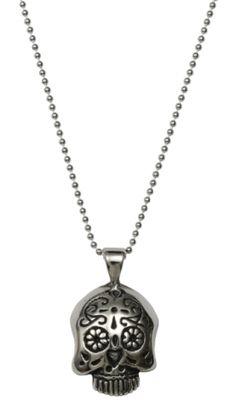 Sugar Skull Necklace by Femme Metale