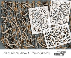 Camo Patterns, Stencil Patterns, Painting Patterns, Waterfowl Hunting, Hunting Camo, Hunting Stuff, Boat Painting, Diy Painting, Aluminum Boat Paint