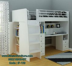 Deciding to Buy a Loft Space Bed (Bunk Beds). – Bunk Beds for Kids Cool Loft Beds, Modern Bunk Beds, Twin Bunk Beds, Kids Bunk Beds, Bunk Bed With Desk, Bunk Beds With Stairs, Loft Spaces, Small Spaces, Small Rooms
