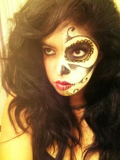 #Day of the dead #skullcandy #makeup #facepaint