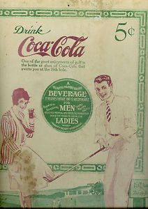 Antique Coca Cola Sign Poster 19th Hole Golf Theme