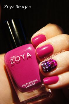 Bringing out the bling, Zoya Reagan and a little sparkle - www.colormejules.com