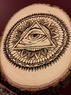 Third Eye Mandala Wood Burning All Seeing Eye by BurningHeARTs