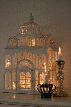 There are lots of pictures of birdcages with lights inside...love them!