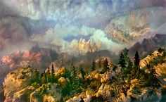 Astonishing landscapes created in 200-gallon tanks of water by artist Kim Keever