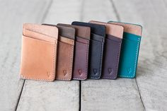 Slim Leather Wallet Hand Dyed & Finished // slim by by fullgive