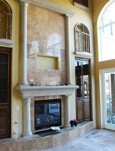 You have probably never seen anything like this! We offer amazing limestone, stone, and marble look-alike fireplace mantels, fireplace surrounds, and foam fireplace mantel products and accessories!  http://www.foamfactory.com/foam-fireplace-mantel-surrounds.html?utm_content=buffer9bd88&utm_medium=social&utm_source=pinterest.com&utm_campaign=buffer  #foamfactory #deocrativefireplace #foamfireplace