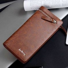Business Men Wallet Artificial Leather Male Purse Brand Clutch Handy Bag Luxury Wallets Large Capacity purse for coins money cli