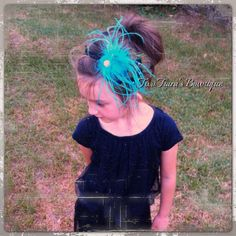 Peacock bling Headband with feathers  on Etsy or Facebook by Two Tiara's Bowtique