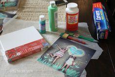 Crafty Texas Girls: Crafty How-To: DIY Canvas Wrapped Photos
