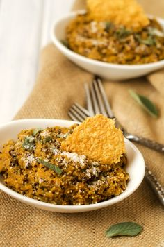 Pumpkin Quinoa Risotto - Cooking Quinoa (something to do with the ridiculous amounts of quinoa and giant can of pumpkin in my pantry)
