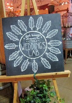 Bear Fox Chalk at the Junk Bonanza weddings lab