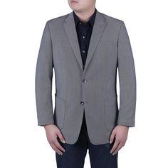 Verno Nanni Men's and Black Birdseye Textured Classic Fit Italian Style Blazer (,)