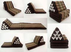 Triangle Thai Cushion With Three-Fold Mattress - 67x20 inch #thai #cushions #triangle