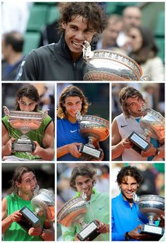 7 times winner of Roland Garros. Living legend!!!