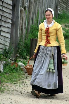 Plimoth Plantation by cherylefrancis, via Flickr.  17th century colonial/early America.