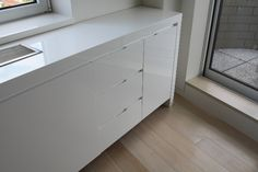 Radiator cover with drawers