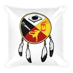 Hip Hop Medicine Wheel Square Pillow  #TShirts #hoodies #mugs #caps #pillows #sweatshirts