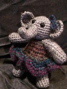 """Elephant crochet plush - """"Tali Elephant"""""""
