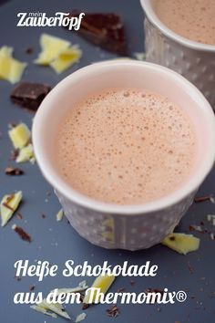 Hot chocolate from Thermomix® - my magic pot- Heiße Schokolade aus dem Thermomix® – mein ZauberTopf Hot chocolate from Thermomix® – Photo: Nicole Stroschein - Thermomix Desserts, Low Carb Desserts, Dessert Recipes, Chocolate Thermomix, Chocolate Caliente, Hot Chocolate, Dessert Chocolate, Apple Smoothies, Pumpkin Spice Cupcakes