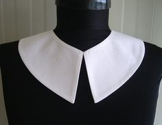 Wednesday Addams Detachable White Collar , Hand Made From Fine Cotton Fabric,Peter Pan , halloween , Pilgrim
